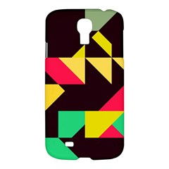 Shapes In Retro Colors 2 Samsung Galaxy S4 I9500/i9505 Hardshell Case by LalyLauraFLM