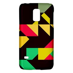 Shapes In Retro Colors 2 Samsung Galaxy S5 Mini Hardshell Case  by LalyLauraFLM