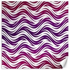 Purple Waves Pattern Canvas 12  X 12  by LalyLauraFLM