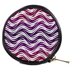 Purple Waves Pattern Mini Makeup Bag by LalyLauraFLM