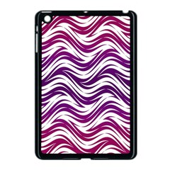 Purple Waves Pattern Apple Ipad Mini Case (black) by LalyLauraFLM