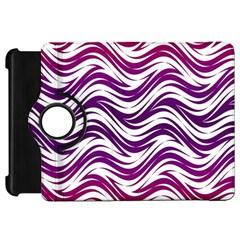 Purple Waves Pattern Kindle Fire Hd Flip 360 Case by LalyLauraFLM