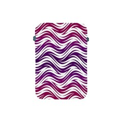 Purple Waves Pattern Apple Ipad Mini Protective Soft Case by LalyLauraFLM