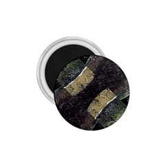 Geometric Abstract Grunge Prints In Cold Tones 1 75  Button Magnet by dflcprints