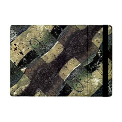 Geometric Abstract Grunge Prints In Cold Tones Apple Ipad Mini Flip Case by dflcprints