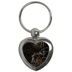 Spider Web Print Grunge Dark Texture Key Chain (heart) by dflcprints