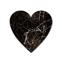 Spider Web Print Grunge Dark Texture Magnet (heart) by dflcprints