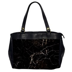 Spider Web Print Grunge Dark Texture Oversize Office Handbag (one Side) by dflcprints