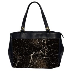 Spider Web Print Grunge Dark Texture Oversize Office Handbag (two Sides) by dflcprints