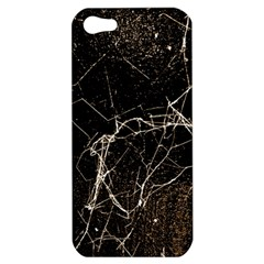 Spider Web Print Grunge Dark Texture Apple Iphone 5 Hardshell Case by dflcprints