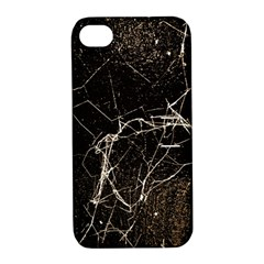 Spider Web Print Grunge Dark Texture Apple Iphone 4/4s Hardshell Case With Stand by dflcprints