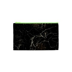 Spider Web Print Grunge Dark Texture Cosmetic Bag (xs) by dflcprints