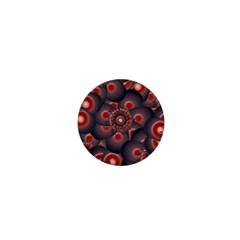 Modern Floral Decorative Pattern Print 1  Mini Button by dflcprints
