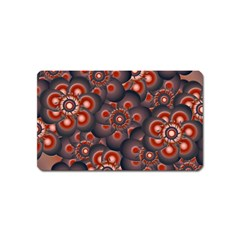 Modern Floral Decorative Pattern Print Magnet (name Card) by dflcprints