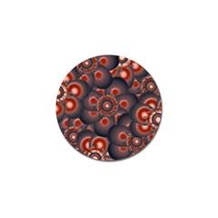 Modern Floral Decorative Pattern Print Golf Ball Marker by dflcprints