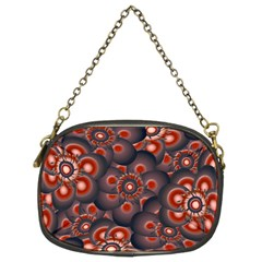 Modern Floral Decorative Pattern Print Chain Purse (two Sided)  by dflcprints