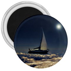 Navigating Trough Clouds Dreamy Collage Photography 3  Button Magnet by dflcprints