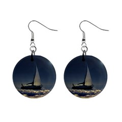 Navigating Trough Clouds Dreamy Collage Photography Mini Button Earrings by dflcprints