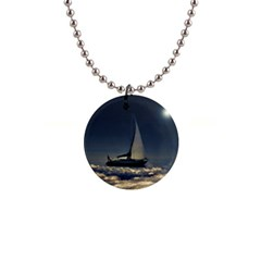 Navigating Trough Clouds Dreamy Collage Photography Button Necklace by dflcprints