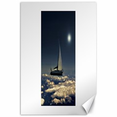 Navigating Trough Clouds Dreamy Collage Photography Canvas 24  X 36  (unframed) by dflcprints