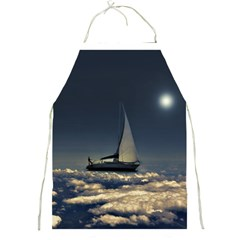 Navigating Trough Clouds Dreamy Collage Photography Apron by dflcprints