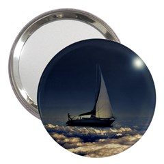 Navigating Trough Clouds Dreamy Collage Photography 3  Handbag Mirror by dflcprints