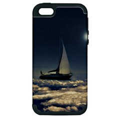 Navigating Trough Clouds Dreamy Collage Photography Apple Iphone 5 Hardshell Case (pc+silicone) by dflcprints