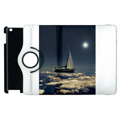 Navigating Trough Clouds Dreamy Collage Photography Apple Ipad 3/4 Flip 360 Case by dflcprints