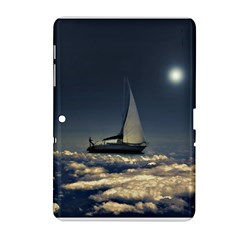 Navigating Trough Clouds Dreamy Collage Photography Samsung Galaxy Tab 2 (10 1 ) P5100 Hardshell Case  by dflcprints