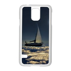Navigating Trough Clouds Dreamy Collage Photography Samsung Galaxy S5 Case (white) by dflcprints