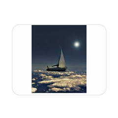 Navigating Trough Clouds Dreamy Collage Photography Double Sided Flano Blanket (mini) by dflcprints