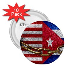 United States And Cuba Flags United Design 2 25  Button (10 Pack) by dflcprints