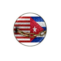 United States And Cuba Flags United Design Golf Ball Marker 10 Pack (for Hat Clip) by dflcprints