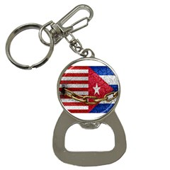 United States And Cuba Flags United Design Bottle Opener Key Chain by dflcprints