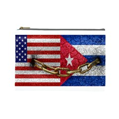 United States And Cuba Flags United Design Cosmetic Bag (large) by dflcprints