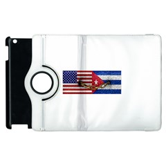United States And Cuba Flags United Design Apple Ipad 2 Flip 360 Case by dflcprints