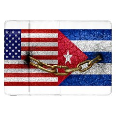 United States And Cuba Flags United Design Samsung Galaxy Tab 8 9  P7300 Flip Case by dflcprints