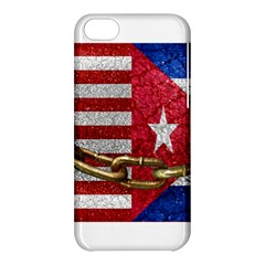 United States And Cuba Flags United Design Apple Iphone 5c Hardshell Case