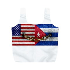 United States And Cuba Flags United Design Reusable Bag (m) by dflcprints
