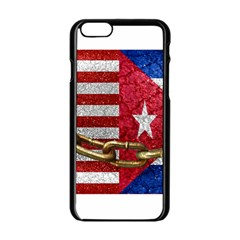 United States And Cuba Flags United Design Apple Iphone 6 Black Enamel Case by dflcprints