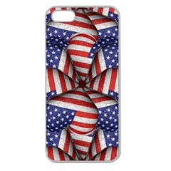 Modern Usa Flag Pattern Apple Seamless iPhone 5 Case (Clear) by dflcprints