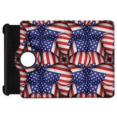 Modern Usa Flag Pattern Kindle Fire Hd Flip 360 Case by dflcprints