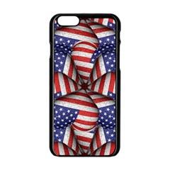 Modern Usa Flag Pattern Apple iPhone 6 Black Enamel Case