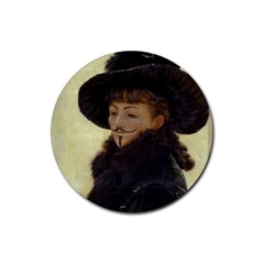 Kathleen Anonymous   James Tissot, 1877 Rubber Round Coaster (4 Pack) by AnonMart