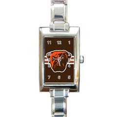 Cleveland Browns National Football League Nfl Teams Afc Rectangular Italian Charm Watch by SportMart