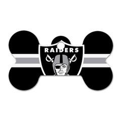 Oakland Raiders National Football League Nfl Teams Afc Dog Tag Bone (Two Sided) by SportMart