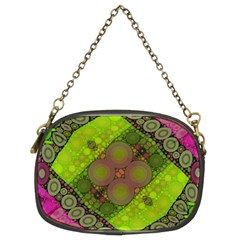 Florescent Pink Green  Chain Purse (two Sided)  by OCDesignss