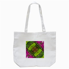 Florescent Pink Green  Tote Bag (white) by OCDesignss