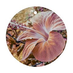 Fantasy Colors Hibiscus Flower Digital Photography Round Ornament by dflcprints