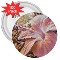 Fantasy Colors Hibiscus Flower Digital Photography 3  Button (100 Pack) by dflcprints
